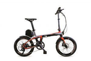 bicicletta elettrica in fibra di carbonio